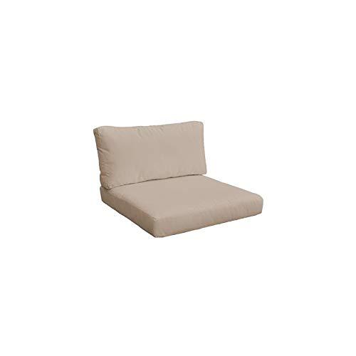 TK Classics 010CUSHION-ARMLESS-WHEAT Cushions Patio Furniture, Wheat