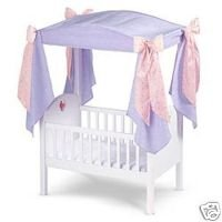Amazoncom American Girl Bitty Baby Crib with Canopy and Bedding