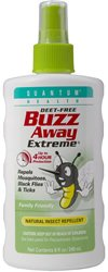 Quantum Health Buzz Away Extreme - DEET-free Insect Repellent, Essential Oil Bug Spray - Small Children and Up, Travel Friendly, 8 Fl Oz
