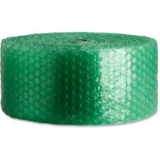 Sparco 125ft. Recycled Bubble Cushioning - 12in. Width x 125 ft Length - Eco-friendly, Flexible, Lightweight - Green