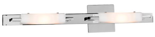 Access Lighting 62252-CH/OPL Styx Two Light Vanity, Chrome Finish with Opal Glass Shade by Access (Access Glass Shade)