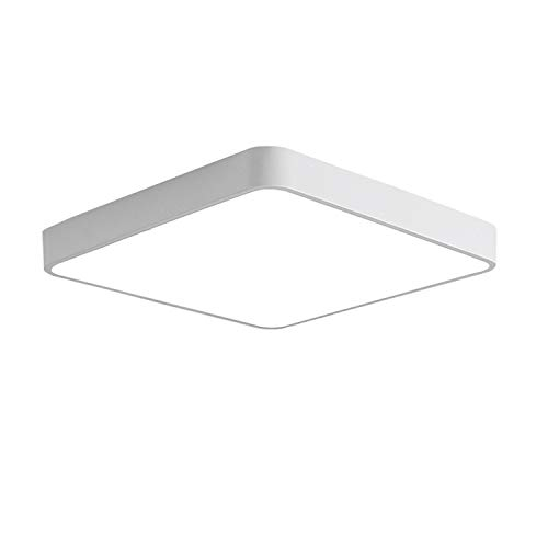 (Ganeed LED Flush Mount Ceiling Light,12-Inch 24W Equivalen Ceiling Lamp Square,6500K Cool White Lighting Fixture for Living Room/Kitchen/Bedroom/Dining)
