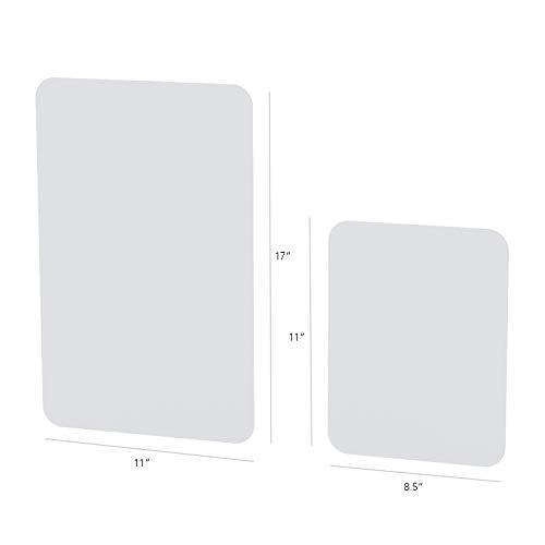 Flexsi Cutting Fondant Mat Board Set, Translucent and Food Grade (2-piece set)