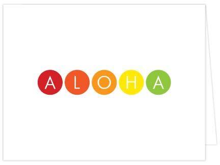 Aloha Dots Folded Note Cards - Set of 6