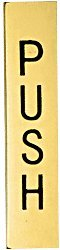 C.R. LAURENCE 4EPPBPU CRL Polished Brass 4-1/2'' Push Indicator by C.R. Laurence