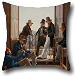 16 X 16 Inch / 40 By 40 Cm Oil Painting Constantin Hansen - A Group Of Danish Artists In Rome Pillowcase ,twin Sides Ornament And Gift To Home,couch,deck Chair,kids Room,sofa,play Room