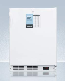 (Accucold FF7LPROADA 24 in. Wide NSF Compliant ADA Height All Refrigerator with Digital Controls44; Probe Hole & Lock)