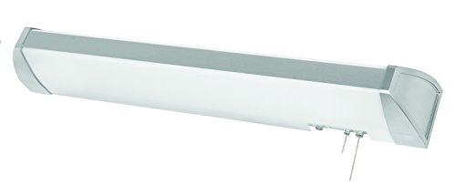AFX Lighting IDB325E8BN White Frosted Acrylic Overbed Light Fixture with Brushed Nickel Accents - Overbed Light