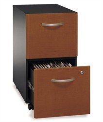 Assembled Rolling File Cabinet in Two Tone - Series C ()