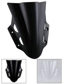 XCJ Motorcycle Wind Deflector ABS Plastic Motorcycle Accessories Windscreen Windshield Wind Deflectors Fit for Suzuki GSX250R GSX 250R GSX 250 R 2017 Black Clear Motorcycle Windscreen