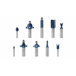 Bosch RBS010 1/2-Inch and 1/4-Inch Router Bit Set