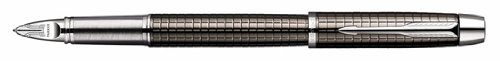 Parker IM Premium Deep Gun Metal Chiseled, Parker 5th Technology Ink Pen with Medium Black refill (S0976100)