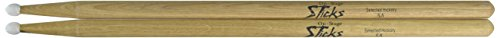 On Stage Hickory 5A Nylon Tip Drumsticks 12 Pairs