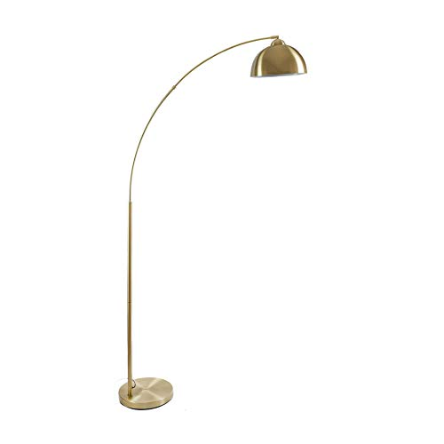 Archiology | Arc Gold Brass Floor Lamp | for Living Room | Venice Series | 79 Feet