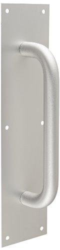 1 Clear Anodized Aluminum Handle (Rockwood 111 X 70C.28 Aluminum Pull Plate, 16