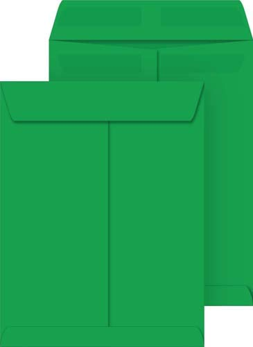 Deep Green 10x13 Catalog Envelopes, Press & Seal, 10-Pack by Coordinated Systems & Supplies