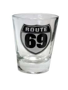 """Funny shot glass""""ROUTE 69"""""""