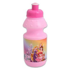 7in Pink Disney Princess Squeeze Waterbottle - Childrens Waterbottle (Bottle Princess Disney)