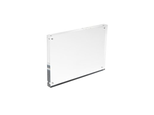 Deflecto A4 30 mm Acrylic Magnetic Block/Photo Frame - Clear from Deflecto