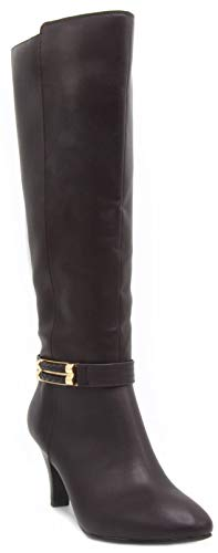 London Fog Womens Event Heeled Dress Boot Brown 8.5