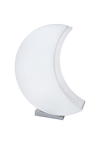 8 seasons design - LED Designmond 3D Mond Shining Moon (60cm groß, RGB Farbwechsel, dimmbar, Fernbedienung, Dekomond beleuchtet, inkl. Sockel, Innen- & Außenleuchte) Weiß