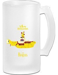 The Beatles Yellow Submarine Frosted Glass Pub Big Beer Stein - 500ML