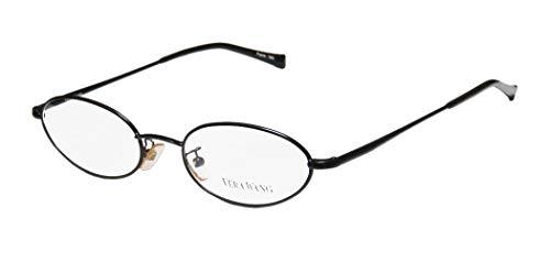 Vera Wang V09 Womens/Ladies Ophthalmic Original Oval Full-rim Flexible Hinges Eyeglasses/Eyeglass Frame (47-17-135, Black) (Gold-designer-brille)