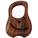 Brand New Lyre Harp 10 String Rose wood with Carrying Case & Tuning Key by AAR