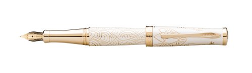 Cross 2014 Year Of The Horse Special Edition Collection, Imperial White Lacquer, Fountain Pen with Medium 18 Karat Gold Nib (AT0316-15MD)