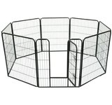 Pawhut 40'' 8 Panel Heavy Duty Pet Dog Portable Exercise Playpen