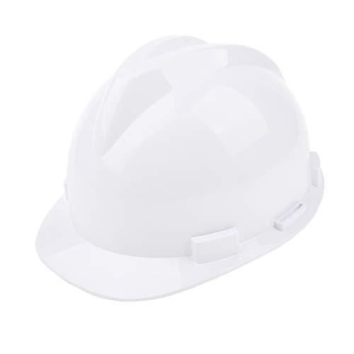 安全ヘルメット 保護帽 ABS樹脂 林業 建設 工事 調整可能 多用途 男女兼用 全2色 - 白