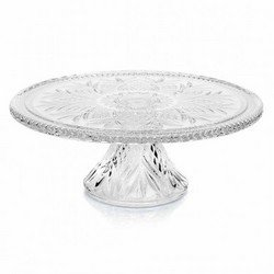 Godinger DUBLIN CAKE PLATE,Clear,12'' cake plate with stand