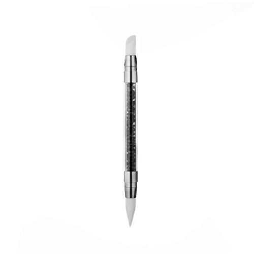Nail Art Tool,Putars Women Portable Tip Silicone UV Gel Nail Art Brush Set Painting Moulding Pen Black
