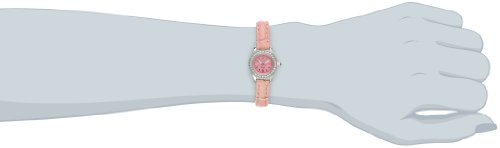 Invicta Women's 13659 Angel Pink Dial Crystal Accented Pink Leather Watch