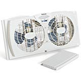 Holmes Dual Blade Twin Window Fan, White. Holmes HAWF2021
