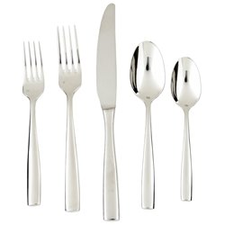 Fortessa Lucca 18/10 Stainless Steel Flatware Set, Service f