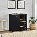Better Homes and Gardens Langley Bay Wine Cabinet, Black from Ameriwood Home