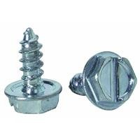 The Hillman Group 70274 8-Inch x 1/2-Inch Hex Washer Head Slotted Sheet Metal Screw, 100-Pack