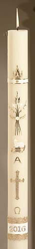 US Gifts No 2 Ornamented Paschal Candle (Pack of 1)