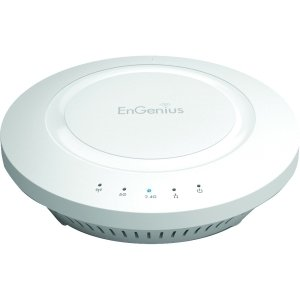 EnGenius EAP600 Business Class Gigabit Wireless-N Dual Concurrent 2.4+5GHz 300/300MBPS Indoor AP/WDS - 2 x Antenna(s) - 1 x Network (RJ-45) - Ceiling Mountable, Wall Mountable - 1 Pack - EAP600