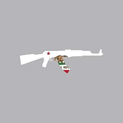 Magnet California State Shape AK-47 Magnetic Vinyl AK47 Kalashnikov CA Car Magnet Bumper Sticker ()