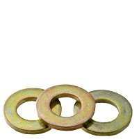 1/2'' FLAT WASHERS | EXTRA HEAVY SAE | MADE IN USA | MEDIUM CARBON | ZINC-YELLOW | INCH | (QUANTITY: 100)