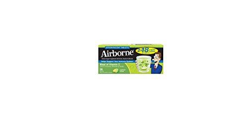 Airborne Effervescent Health Formula Tablets, Lemon-Lime, 3 Packs of 10, 30 ()