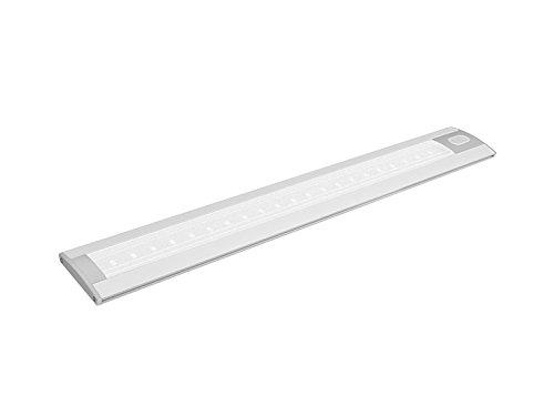 PANLUX PN11100002, Gordon LED keukenlamp met touch-schakelaar 3000K, aluminium, 5,W, zilver, 43 x 6,5 x 1,2 cm