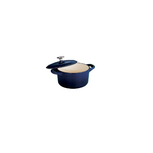 Tramontina Enameled Cast Iron Covered Mini Cocotte, 10.5-Ounce, Gradated Cobalt