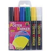 Shachihata Artline Bullet 6PK Poster Markers (Primary) EPP-4 2mm 47315