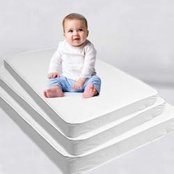 Custom Size Baby Crib Mattress Bed Pad: Firm Foam Bedding : Waterproof Vinyl Top ()