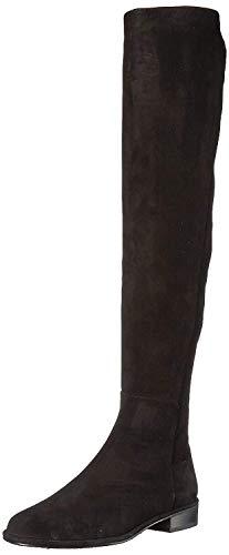 Stuart Weitzman Women's Allgood Knee High Boot, Black Suede, 6 Medium US