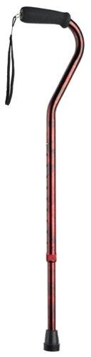 Carex Offset Designer Cane, Red