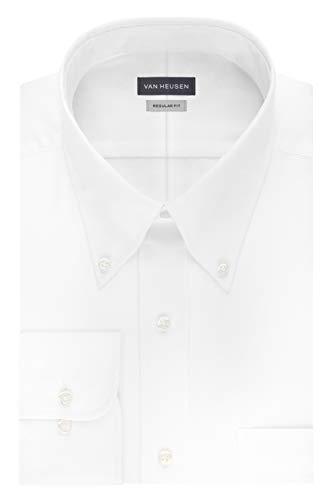 - Van Heusen Men'S Long Sleeve Easy Care Non-Iron Pinpoint Dress Sh (White) (M)